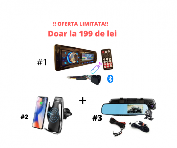 Oferta MP3 Auto, Camera si Incarcator Wireless
