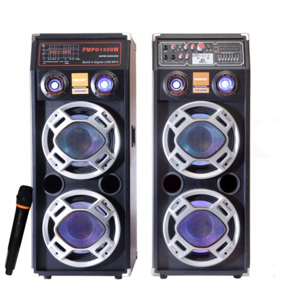 Set Boxe Bluetooth Active Professioale, 800W, Microfon Egalizator 7 benzi