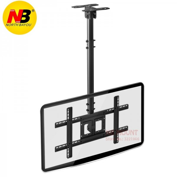 NBT560-15 TV Ceiling Mount 32-57 inch Flat Panel LED LCD TV Mount Height Adjustable Side Mount Loading 68kgs Max. VESA 600*400mm