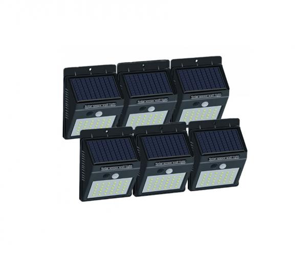 Set 6 lampi solar cu 30 led , senzor de miscare si senzor de lumina