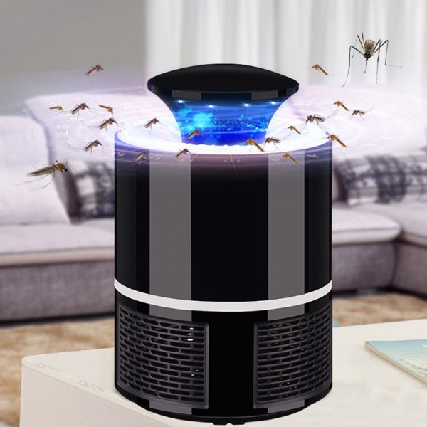 informativ Lampa LED 360 ° Anti Tantari cu USB -negru