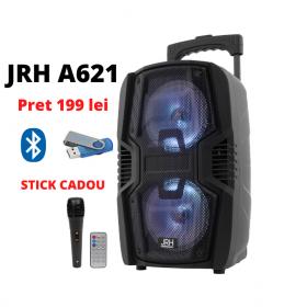 Boxe bluetooth activa Troller 300w Microfon Telecomanda radio USB CADOU