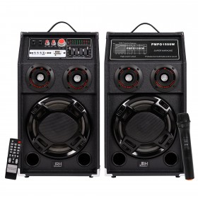 Set boxe active Bluetooth 500W EQ5 MICROPHONE WIRELESS