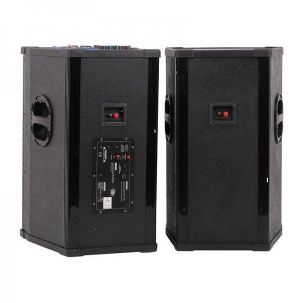 Boxe active Vlliodor 2005, 2 x 500 W, 4 Ohm, conectivitate Bluetooth, USB