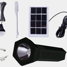 Sistem Solar pentru Camping Multifunctional, Lanterna LED Inclusa, Bec LED, Panou Solar Inclus,