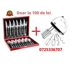 oferta Set de tacamuri 24 Piese de inox cu Mixer JRH, 7 trepte