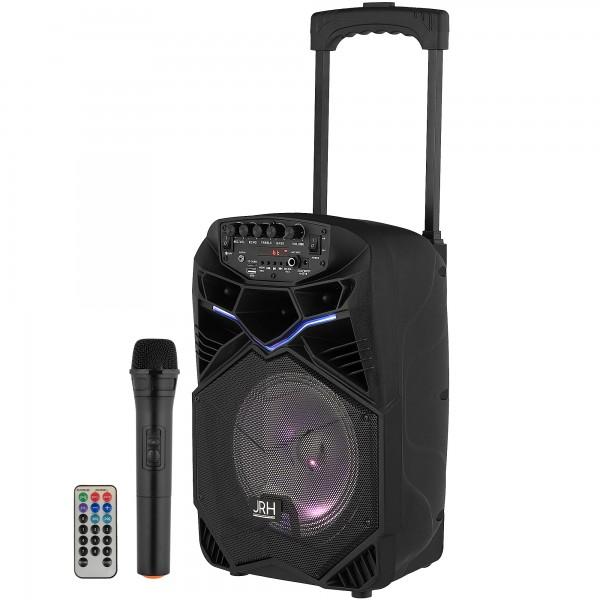 Boxa tip troler JRH A85, 300 W, USB, Microfon wireless Telecomanda