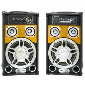 Set boxe active 300w karaoke bluetooth.