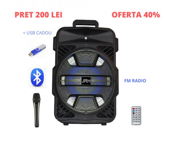Boxa portabila bluetooth p12 250W rms Micorphone