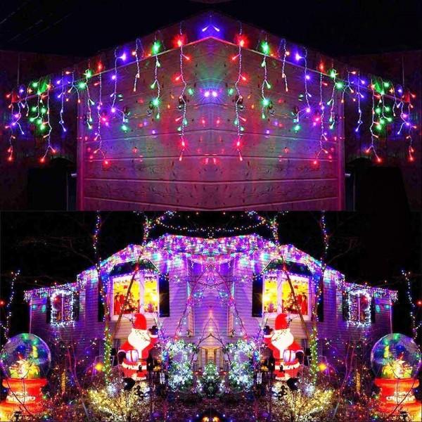 Instalatie de Craciun 50 de metri , 480 de leduri, multi colour