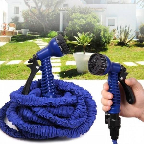 Furtun De Gradina Extensibil 30m Cu Pistol Pentru Stropit Albastru