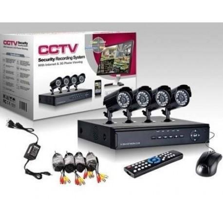 Kit De Supraveghere HD, Format Din 4 Camere De Interior/Exterior, HDMI