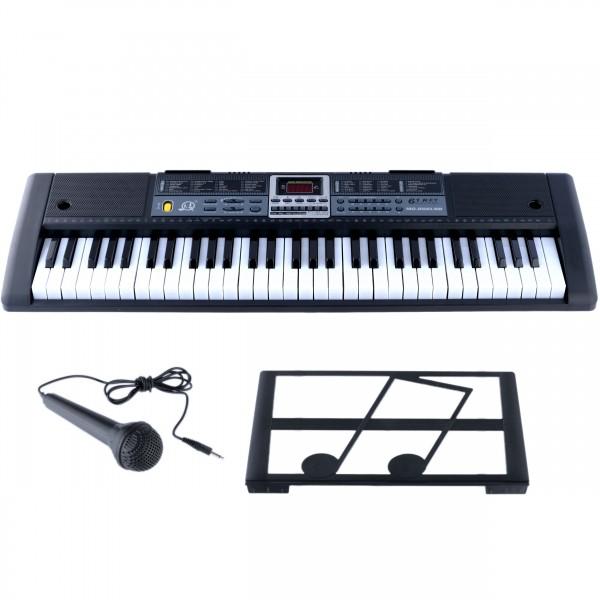 Orga electronica cu Microfon Echipata cu 61 Taste MQ-866, negru