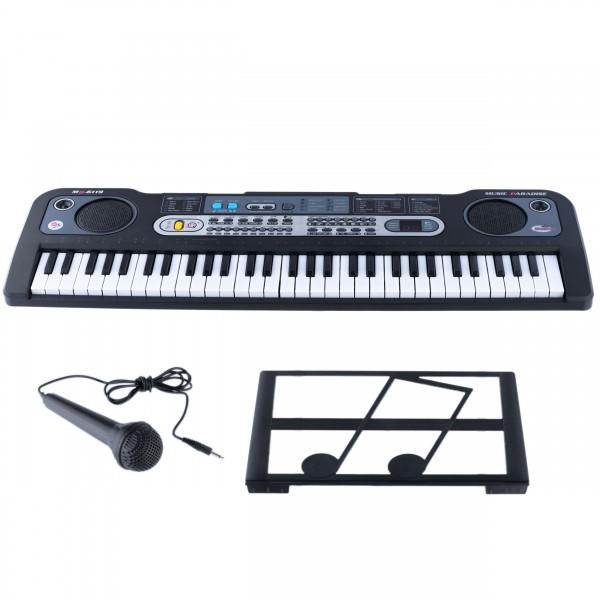 Orga electronica cu Microfon cu 61 Taste MQ-6119 , negru