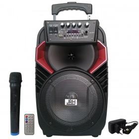 Boxa tip troler JRH A82, 300 W, USB, Microfon wireless Telecomanda