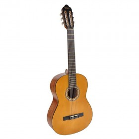 Chitara clasica din lemn 95 cm, natur cutaway, husa nylon cadou