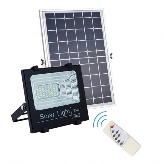 Proiector LED 15W-25W cu panou solar si telecomanda