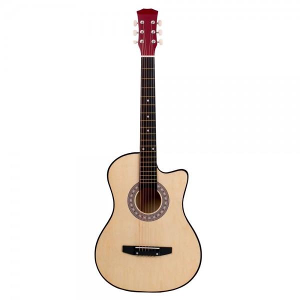 Chitara clasica din lemn 95 cm, natur cutaway