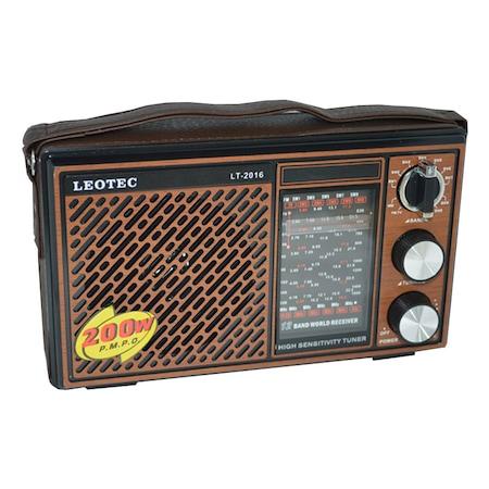 Radio portabil Leotec LT-2015, 12 benzi