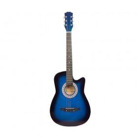 Chitara clasica din lemn 95 cm, Cutaway, albastru marin