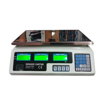 Cantar Electronic 40 kg, acumulator inclus, incarcare rapida, digital, functii multiple, afisaj dublu, autonomie mare