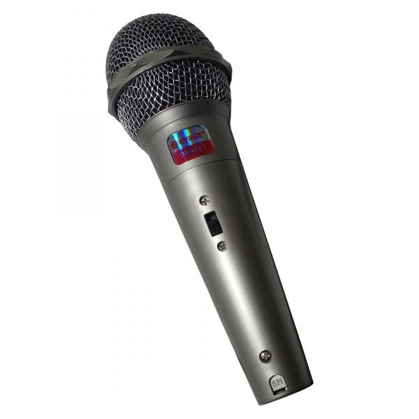 Microfon Unidirectional Dinamic,Cu Fir,Argintiu/ Negru